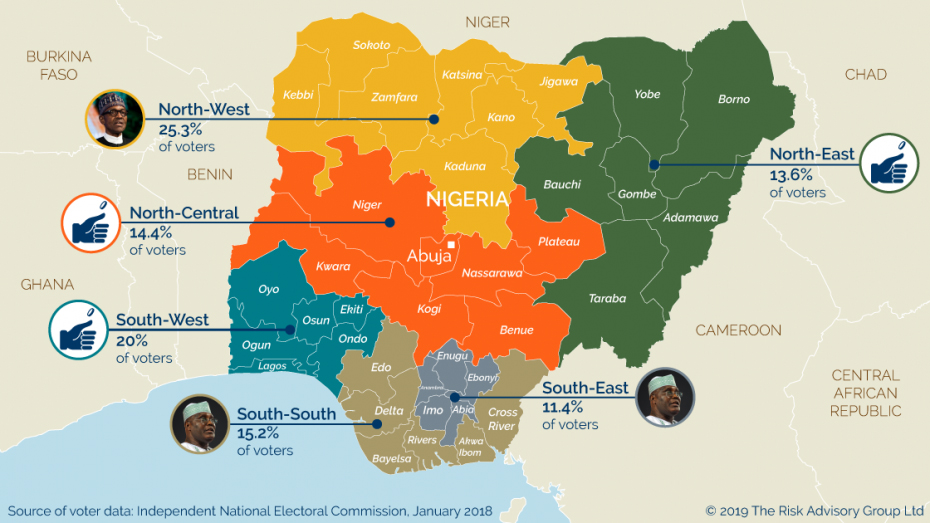 Overview of the Nigerian election regional voters